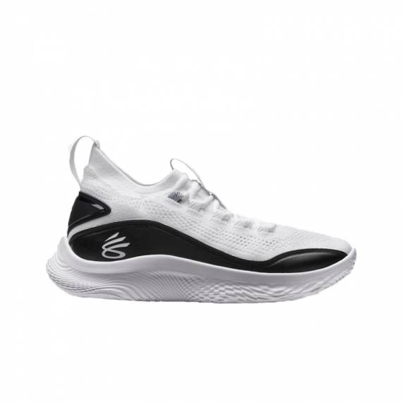 CURRY 8 FLOW WHITE BLACK (JUNIOR)