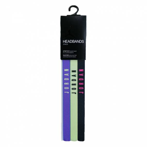 JORDAN HEADBANDS 3PK ELECTRIC