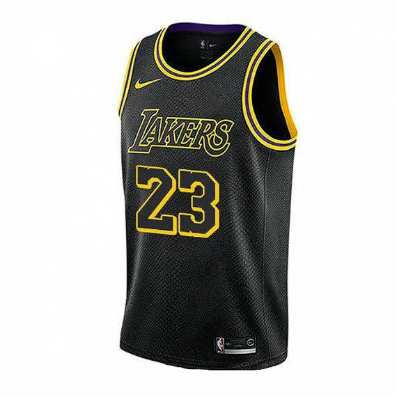 LEBRON JAMES LOS ANGELES LAKERS MAMBA EDITION SWINGMAN JERSEY (JUNIOR)