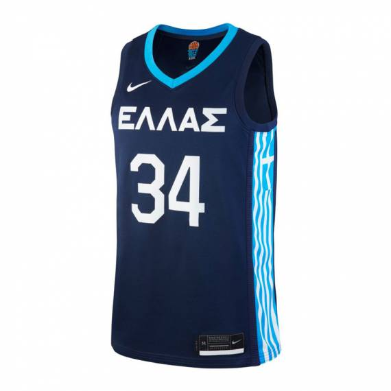 GIANNIS ANTETOKOUNMPO GREECE ROAD EDITION OLYMPIC JERSEY 2021