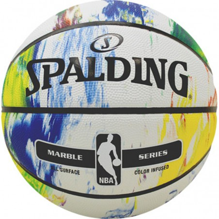 SPALDING NBA MARBLE BW OUT