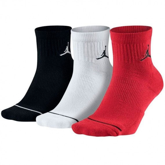 JORDAN JUMPMAN QUARTER (PACK DE 3) RED-BLACK-WHITE