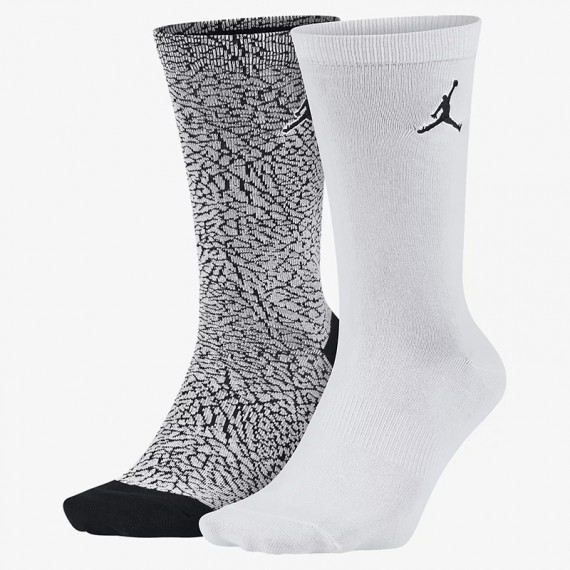 JORDAN ELEPHANT CREW WHITE GREY (PacK 2)