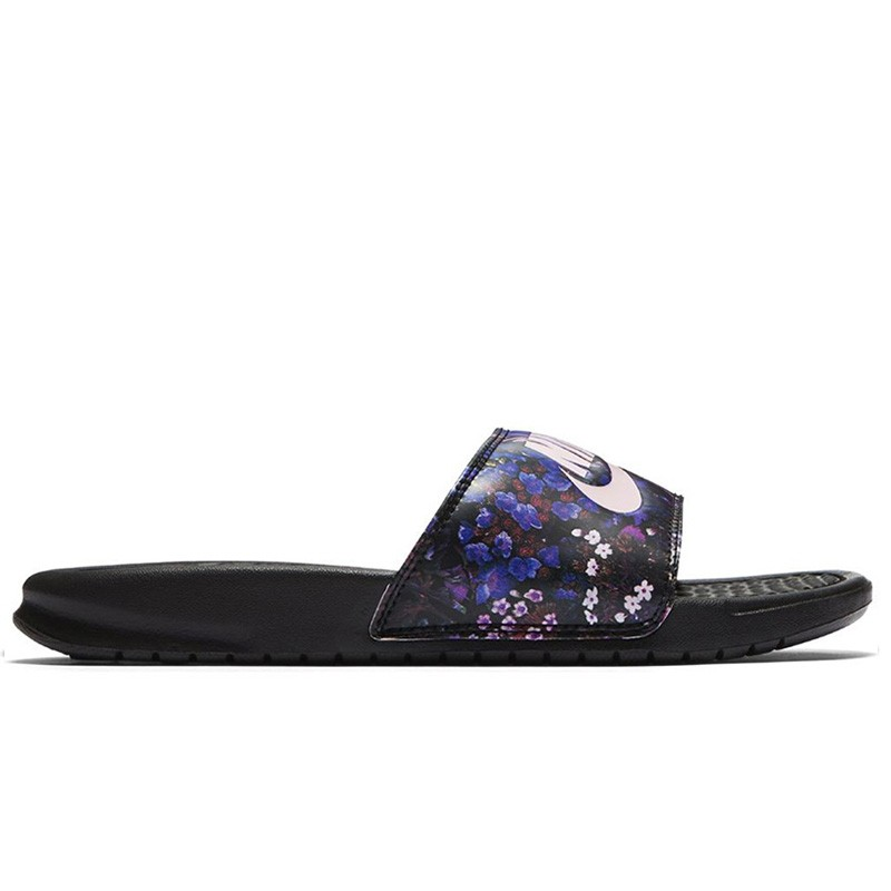 chanclas nike benassi just do it pink print basket world