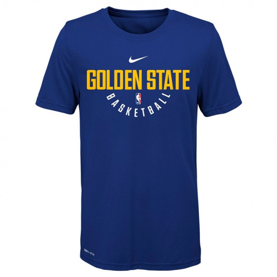 NIKE NBA PRACTICE SS WARRIORS TEE