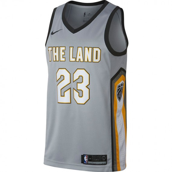 NIKE NBA JUNIOR LEBRON JAMES CLEVELAND CAVALIERS CITY EDITION SWINGMAN JERSEY