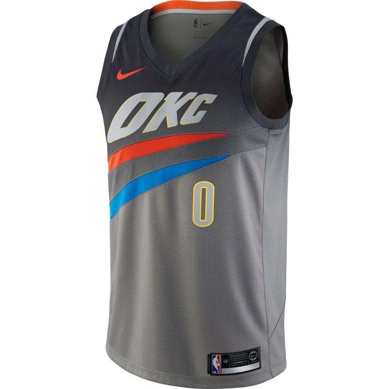 NIKE NBA JUNIOR RUSSELL WESTBROOK OKLAHOMA CITY THUNDER CITY EDITION SWINGMAN JERSEY JUNIOR