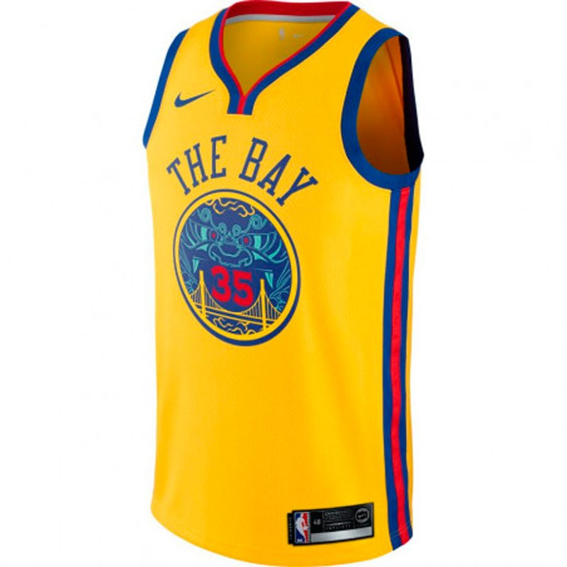 NIKE NBA JUNIOR KEVIN DURANT GOLDEN STATE WARRIORS CITY EDITION SWINGMAN JERSEY JUNIOR