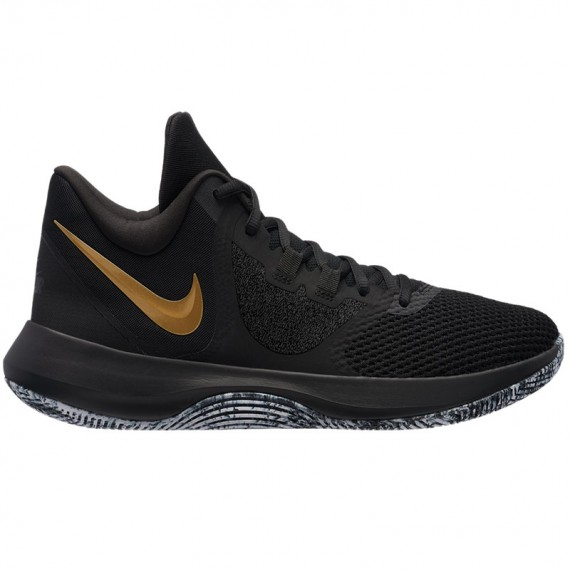 NIKE AIR PRECISION II BLACK GOLD