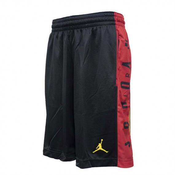 JORDAN RISE GRAPHIC SHORT BLACK AND RED