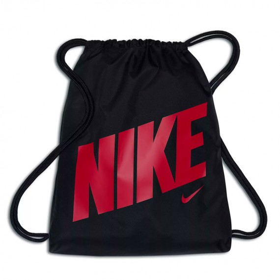 KIDS NIKE GRAPHIC GYM SACK BLACK AND PINK