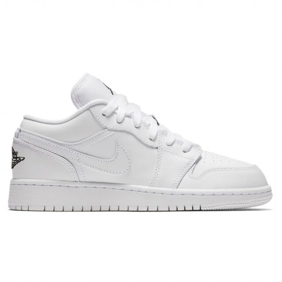 JORDAN 1 LOW WHITE (JUNIOR)