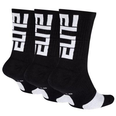 SOCKS ELITE BLACK (PACK DE 3)