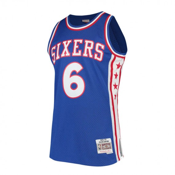 JULIUS ERVING PHILADELPHIA 76ERS BLUE HARDWOOD CLASSIC