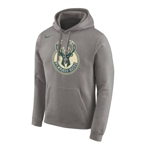 MILWAUKEE BUCKS HOODIE GREY NBA