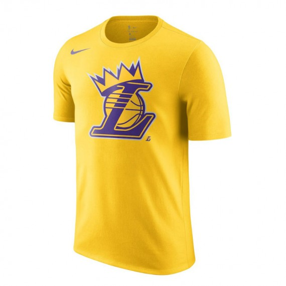 NBA LAKERS CROWN TEE YELLOW (JUNIOR)