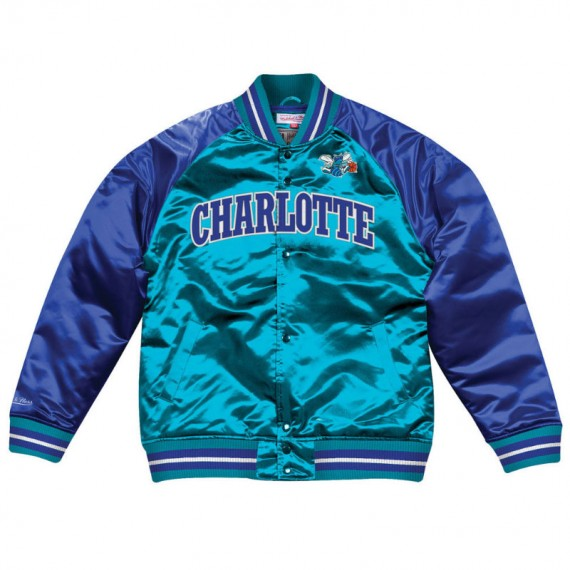 TOUGH SEASON SATIN JACKET CHARLOTTE HORNETS