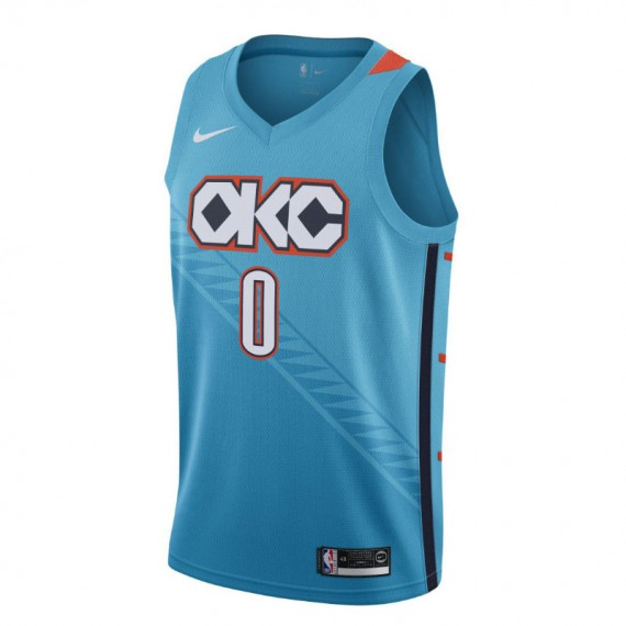 RUSSELL WESTBROOK CITY EDITION SWINGMAN JERSEY OKLAHOMA CITY THUNDER (JUNIOR)