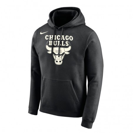 Sudadera Chicago Bulls Hoodie Black NBA Nike - Basket World 16546d70892