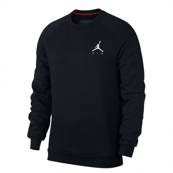JORDAN JUMPMAN FLEECE CREW BLACK