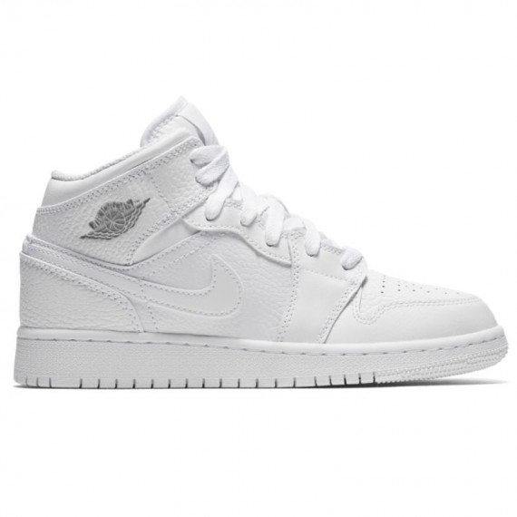 JORDAN 1 MID WHITE (JUNIOR)
