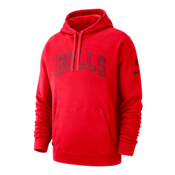CHICAGO BULLS HOODIE COURTSIDE RED