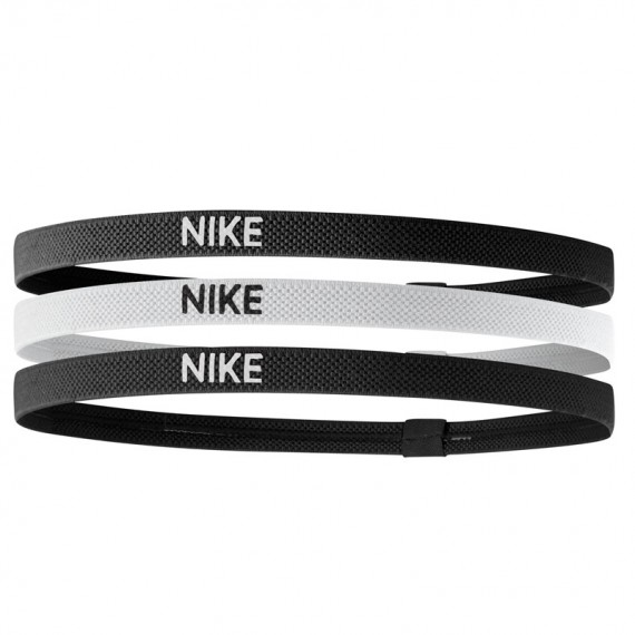NIKE ELASTIC HAIRBANDS BLACK (Pack de 3)