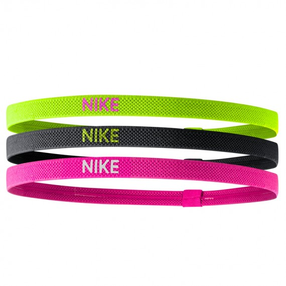 NIKE ELASTIC HAIRBANDS MULTICOLOR (Pack de 3)
