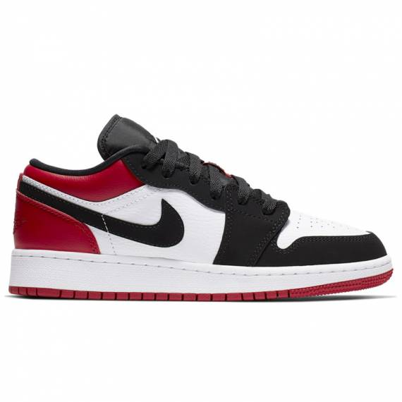 JORDAN RETRO 1 LOW BLACK TOE (JUNIOR)