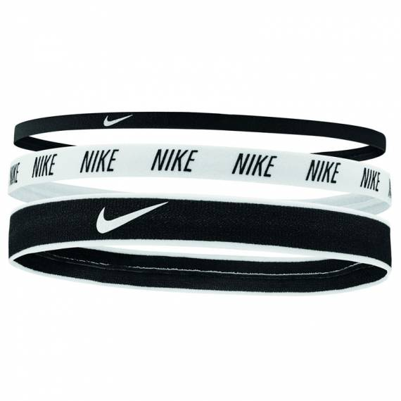 NIKE MIXED WIDTH HAIRBANDS BLACK (PACK DE 3)