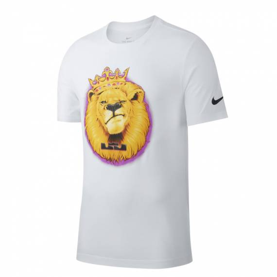 KING JAMES DRY TEE AIRBRUSH WHITE