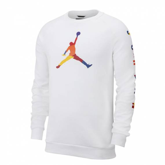 JORDAN FLEECE DNA HOODIE WHITE