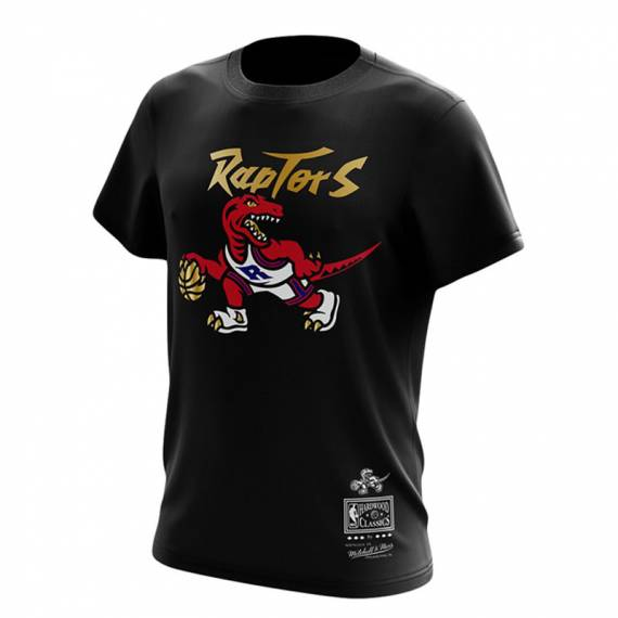 RAPTORS GOLD DRIBBLE TEE BLACK