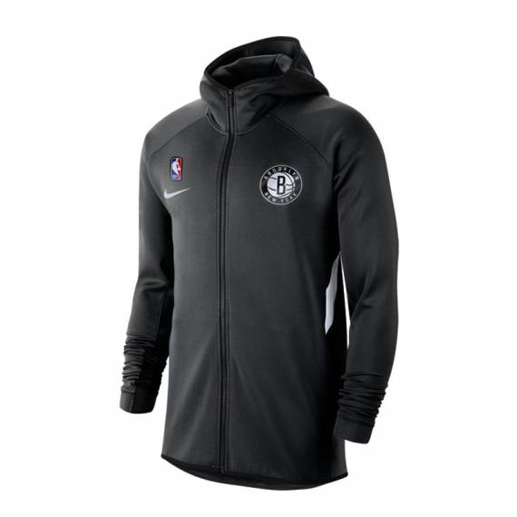 BROOKLYN NETS THERMAFLEX SHOWTIME HOODIE BLACK
