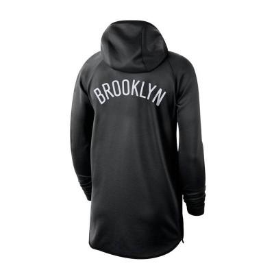 BROOKLYN NETS THERMAFLEX SHOWTIME HOODIE BLACK