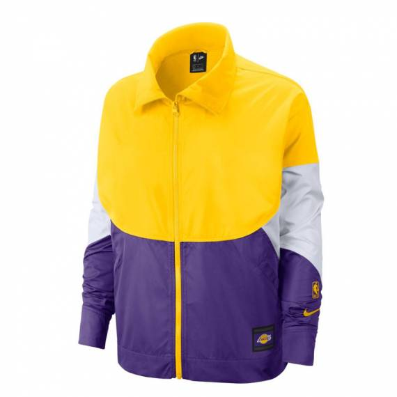 LOS ANGELES LAKERS COURTSIDE SNAP JACKET MUJER