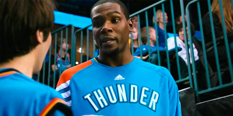 Kevin Durant en Thunderstruck