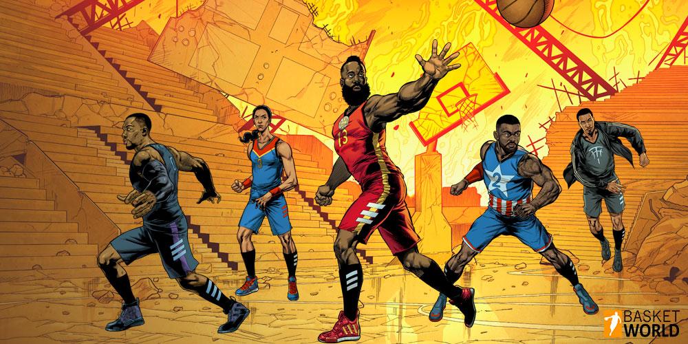 Colección Adidas Basketball y Marvel 1