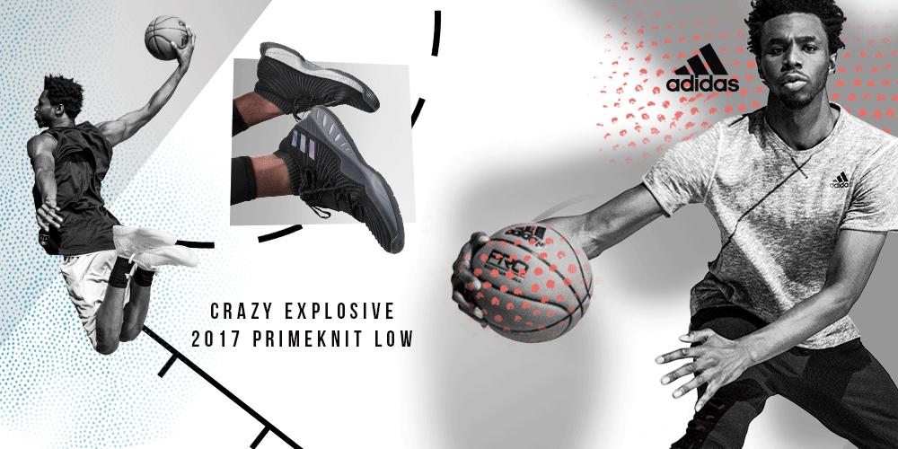Nueva Zapatilla adidas Crazy Explosive 2017 Primeknit Low 1