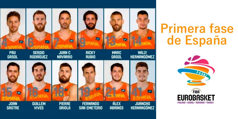Primera fase de España en el Eurobasket 1