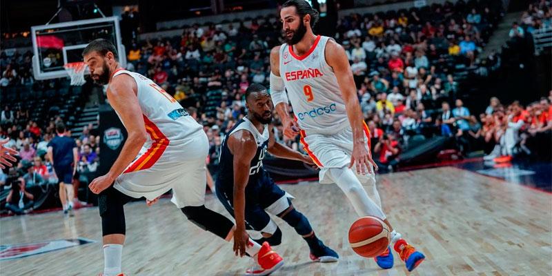 Zapatillas de los jugadores en el mundial de basket 2